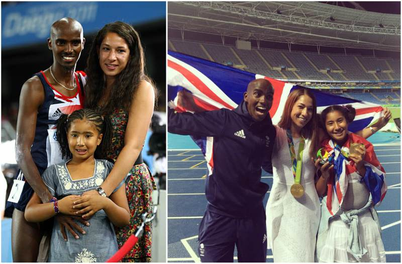 Mo Farah's children - step-daughter Rhianna Farah