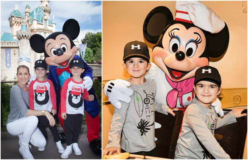 Celine Dion's children - twin sons Eddy and Nelson Angelil