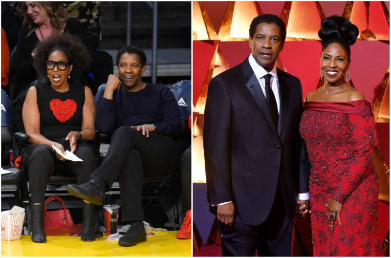 Denzel Washington's family - wife Pauletta Washington