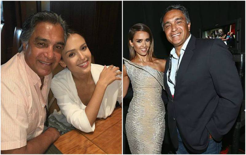 Jessica Alba's family - father Mark Alba