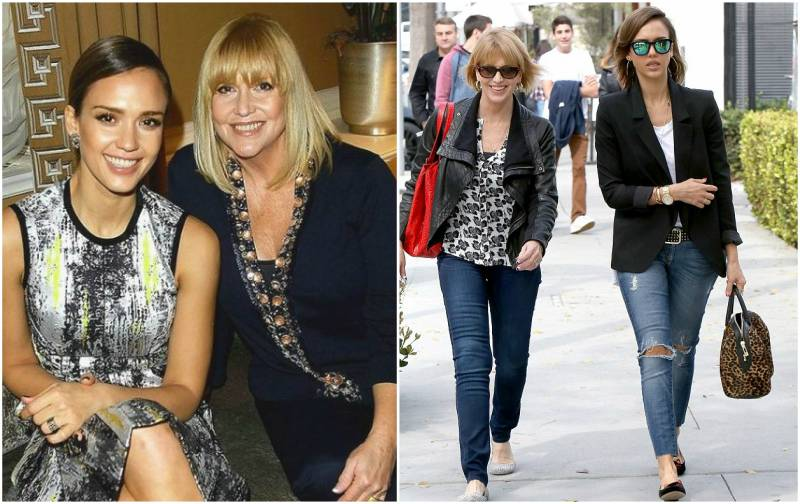 Jessica Alba's family - mother Catherine Jensen