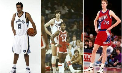 Who are the shortest and the tallest basketballers?