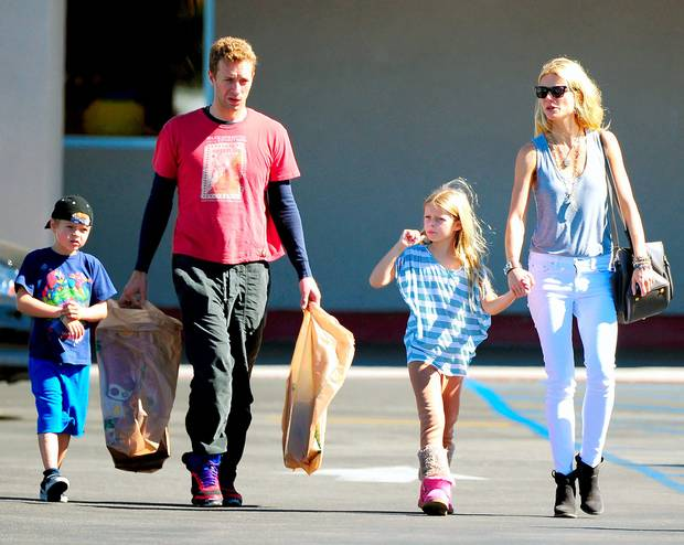 Gwyneth Paltrow and Chris Martin's children