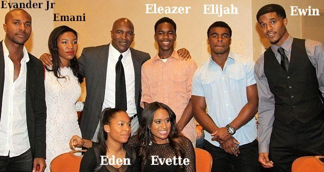 Evander Holyfield's family - children