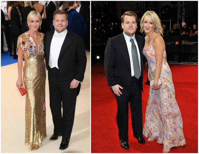 James Corden's family - wife Julia Carey