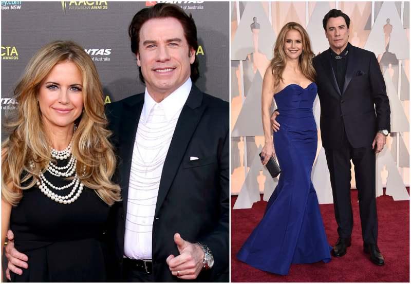 John Travolta's family - wife Kelly Preston