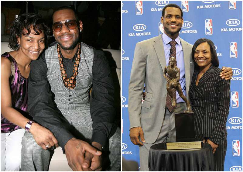 LeBron James' family - mother Gloria Marie James