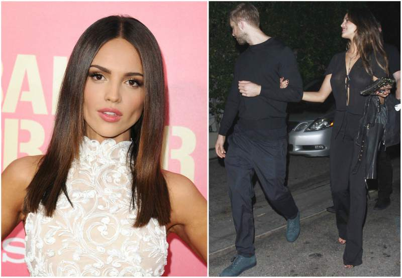 Calvin Harris with Eiza Gonzalez
