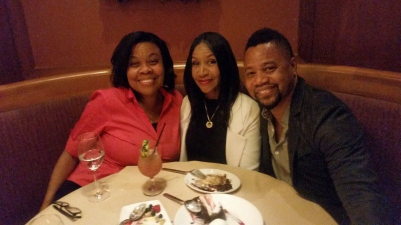 Cuba Gooding Jr with mother and sister