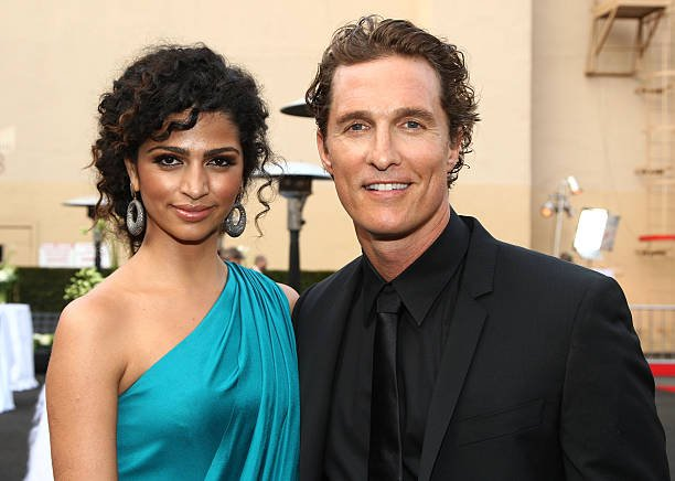 Matthew McConaughey's family - wife Camila Alves