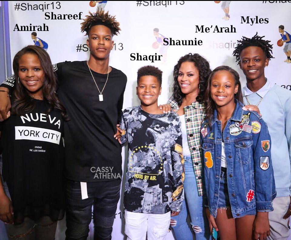 Shaquille O'Neal's children and ex-wife