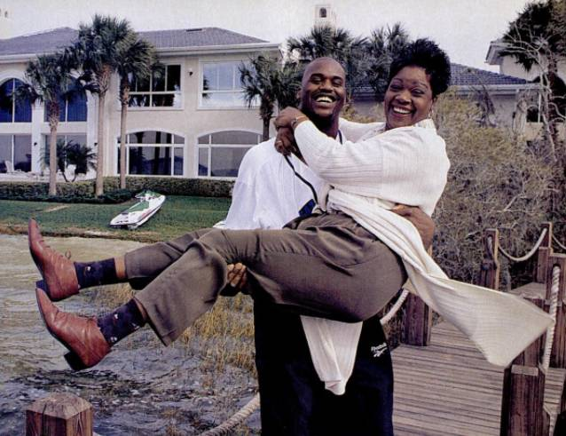 Shaquille O'Neal's family - mother Lucille O'Neal