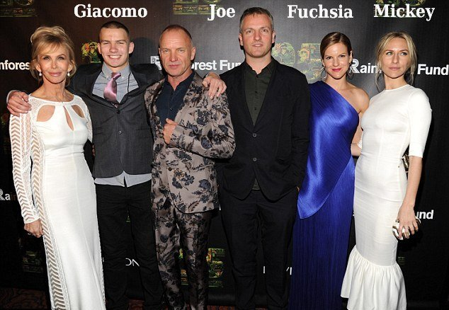 Singer Sting's family
