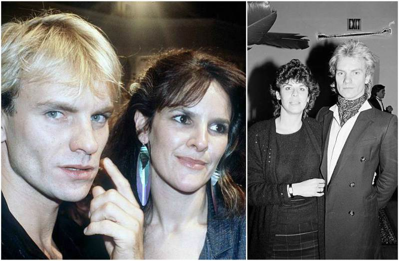 Singer Sting's family - ex-wife Frances Tomelty