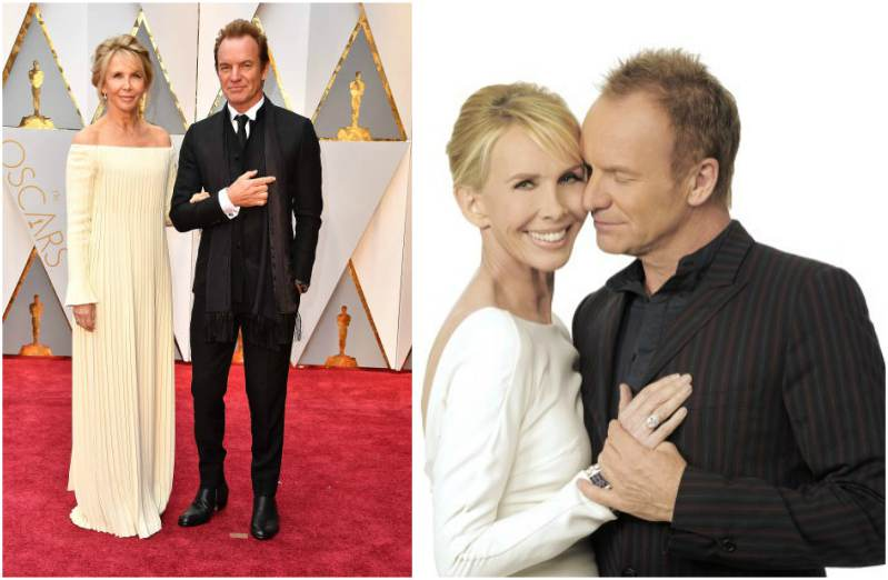 Singer Sting's family - wife Trudie Styler