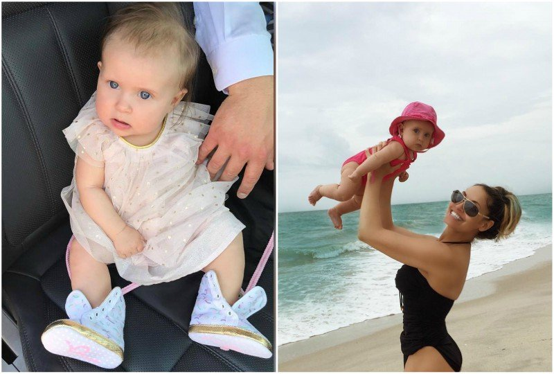 Trish Stratus' children - daughter Madison Patricia Stratigeas Fiscio