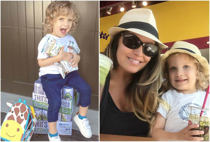 Trish Stratus' children - son Maximus Stratigeas Fiscio