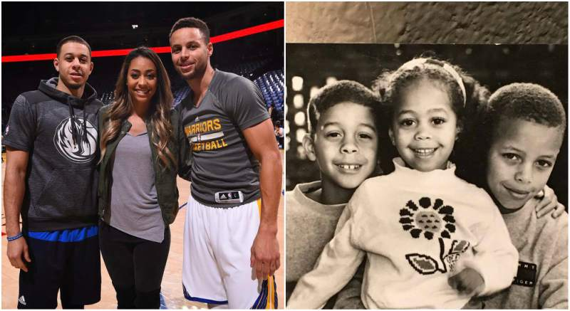 Wardell Stephen Curry's siblings