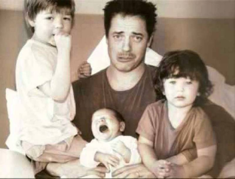 Brendan Fraser's children - 3 sons