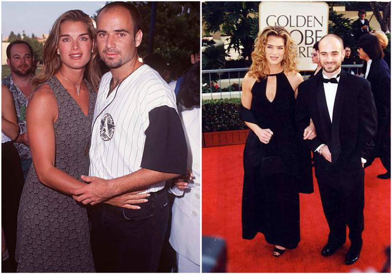 Brooke Shields' family - ex-husband Andre Agassi