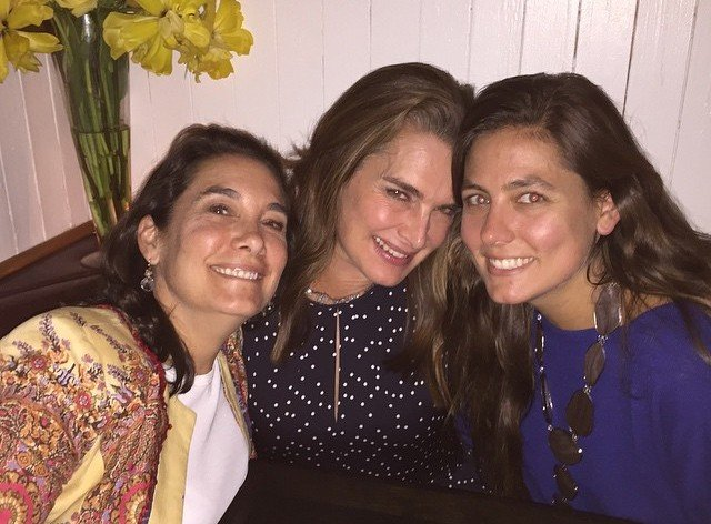 Brooke Shields' siblings - half-sisters Christina and Olympia