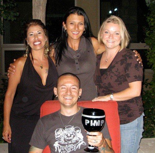 Chester Bennington's family - baby mamas