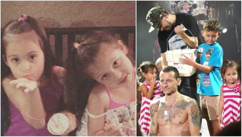 Chester Bennington's children - twin daughters Lila and Lily Bennington