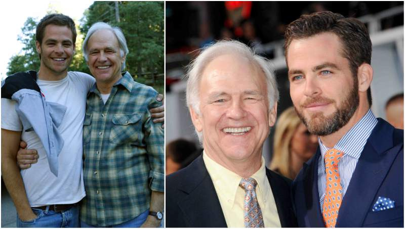 Chris Pine's family - father Robert Pine