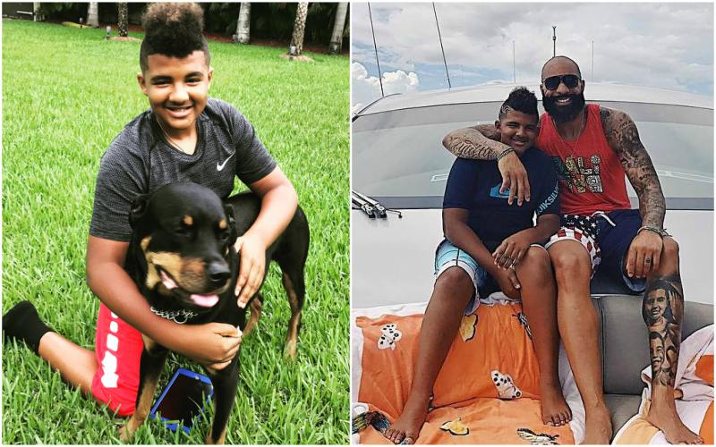 Carlos Boozer's children - son Carmani Boozer