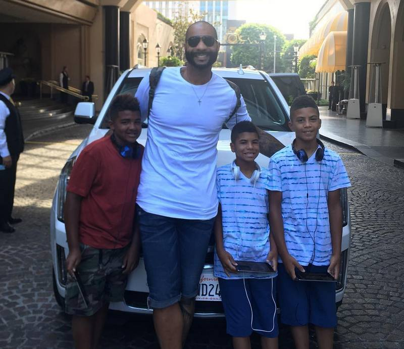 Carlos Boozer's children - twin sons Cameron and Cayden Boozer