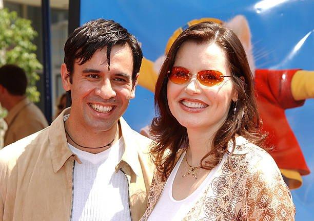 Geena Davis' family - husband Reza Jarrahy