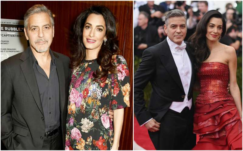 George Clooney's family - wife Amal Clooney