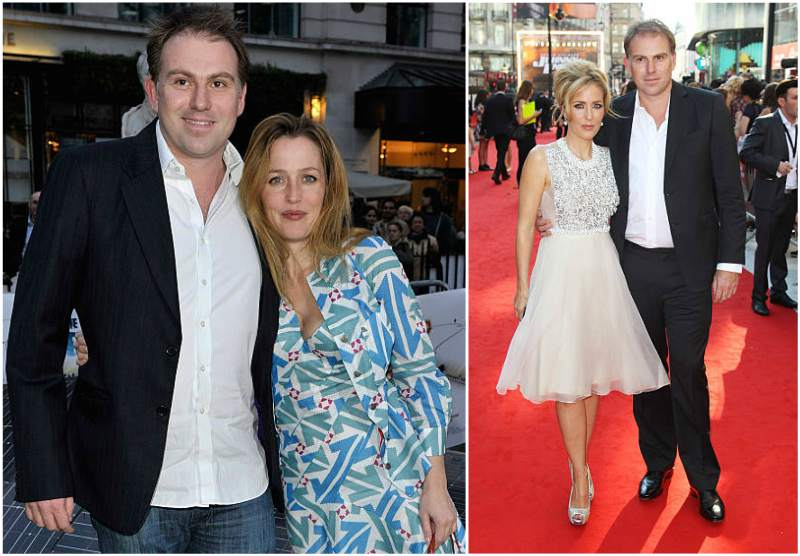 Gillian Anderson's family - ex-partner Mark Griffiths