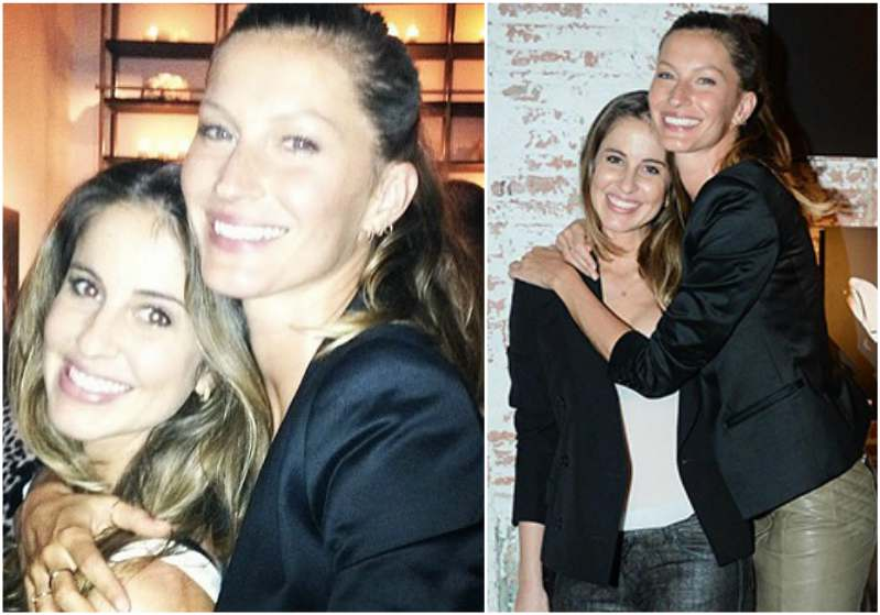 Brazilian supermodel Gisele Bundchen and her cute family