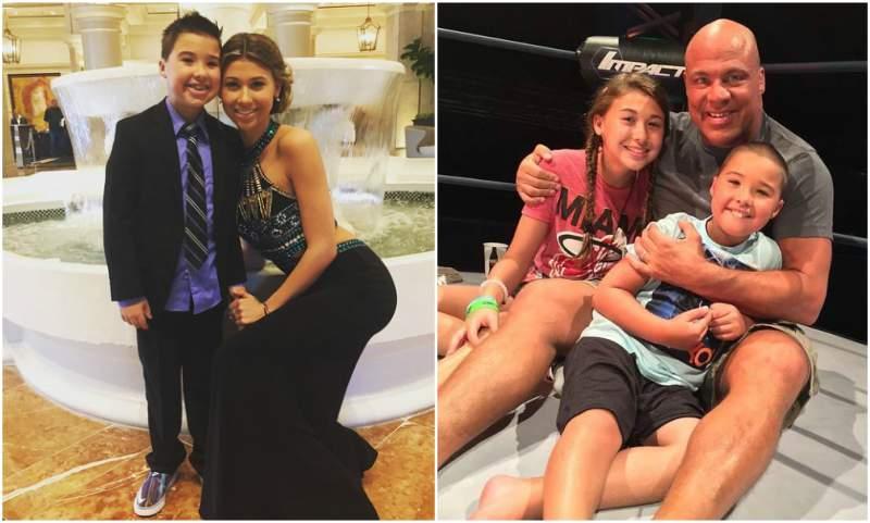 Kurt Angle and Karen Jarrett's children