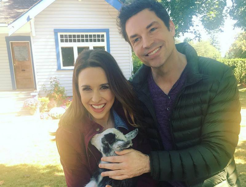 Lacey Chabert with actor Brennan Elliott