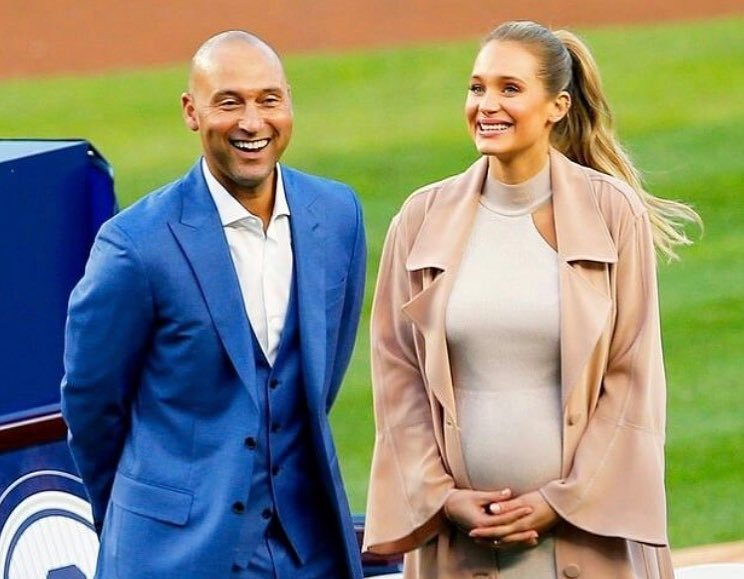 Derek Jeter's family - wife Hannah Jeter pregnant