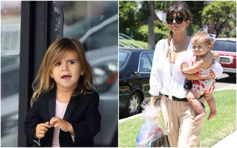 Kourtney Kardashian's children - daughter Penelope Scotland Disick