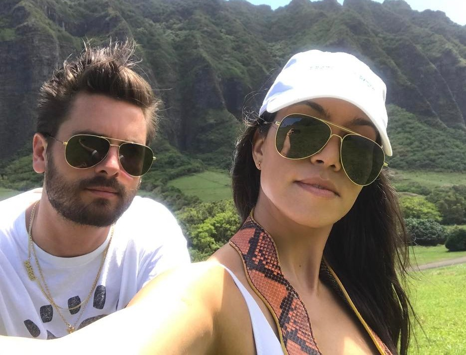 Kourtney Kardashian with father of her 3 kids - Scott Disick