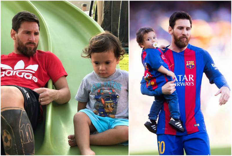 Lionel Messi's children - son Mateo Messi