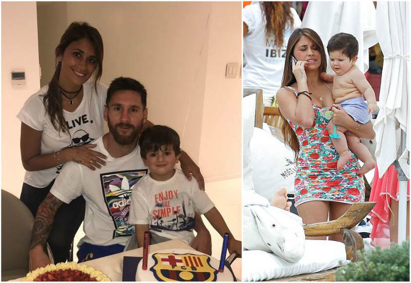 Lionel Messi's children - son Thiago Messi
