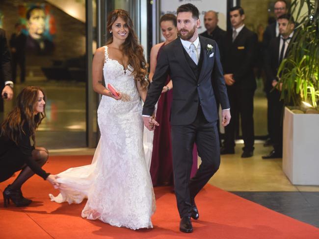 Lionel Messi's family - wife Antonella Roccuzzo