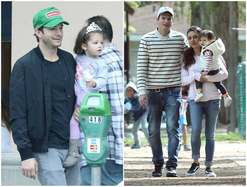 Ashton Kutcher and Mila Kunis' children - daughter Wyatt Isabelle Kutcher