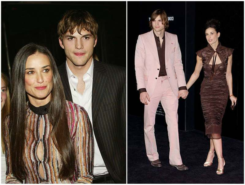 Ashton Kutcher's family - ex-wife Demi Moore