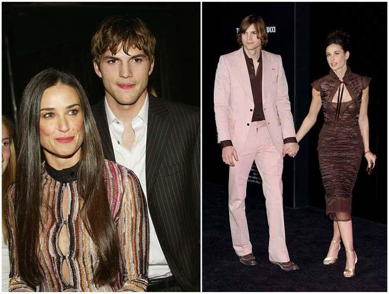 Ashton Kutcher's family - ex-wife Demi Moore