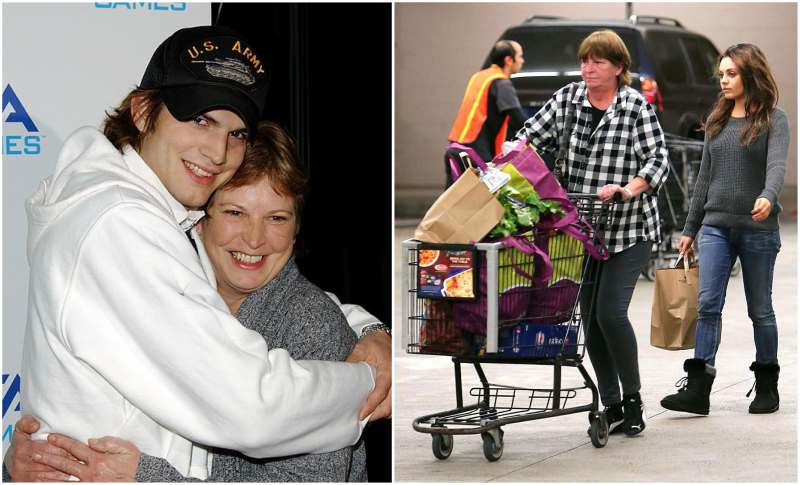 Ashton Kutcher's family - mother Diane Finnegan Portwood