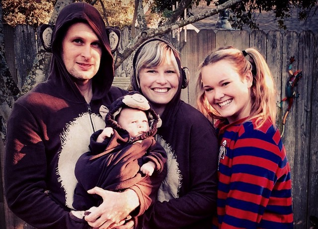 Ashton Kutcher's siblings - sister Tausha Kutcher Kordisch with family
