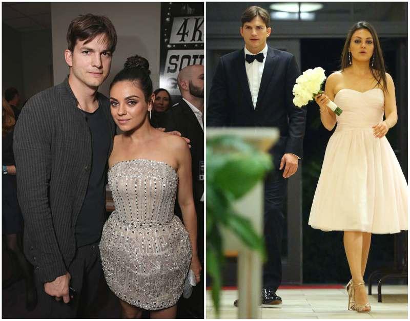 Ashton Kutcher's family - wife Mila Kunis
