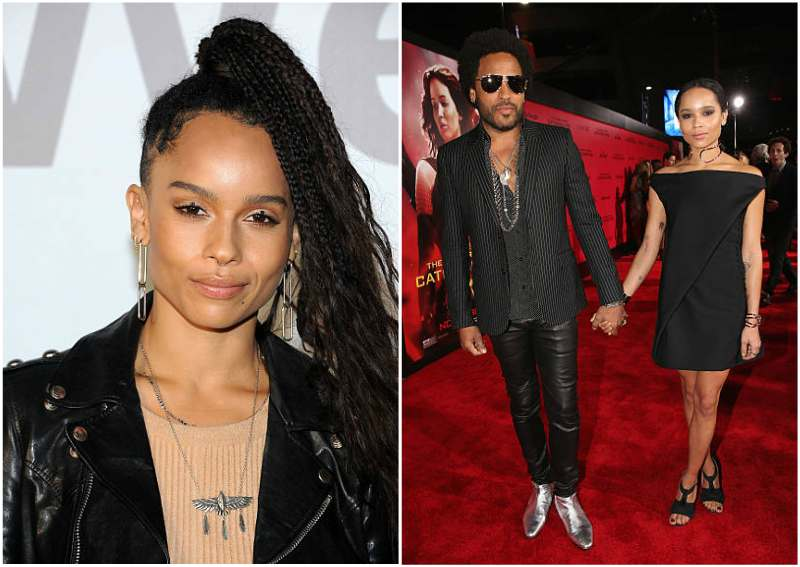 Lenny Kravitz's children - daughter Zoe Isabella Kravitz