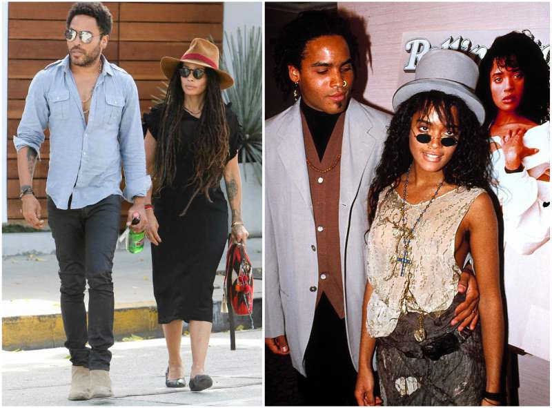 Lenny Kravitz's family - ex-wife Lisa Michelle Bonet